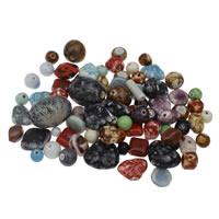 Porzellan Schmuckperlen, gemischt, 10-25x35mm, Bohrung:ca. 1-4mm, ca. 120PCs/kg, verkauft von kg