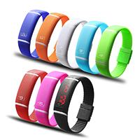 LED Armbanduhr, Silikon, keine, 20x10mm, 18mm, Länge:ca. 9.4 ZollInch, verkauft von PC