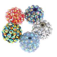 Harz Strass Perle, rund, keine, 16mm, Bohrung:ca. 2.5mm, 10PCs/Tasche, verkauft von Tasche