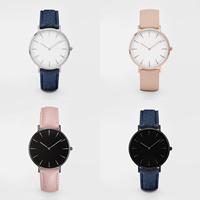 Unisexe Armbanduhr, PU Leder, mit Zinklegierung Zifferblatt & Glas, Edelstahl Dornschließe, plattiert, einstellbar & verschiedene Stile für Wahl, Länge:ca. 9.8 ZollInch, verkauft von PC
