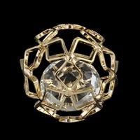 Kubischer Zirkonia Messing Perlen, mit kubischer Zirkonia, rund, goldfarben plattiert, kein Loch & hohl, frei von Blei & Kadmium, 30mm, verkauft von PC