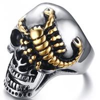 Edelstahl Herren-Fingerring, Schädel, plattiert, verschiedene Größen vorhanden & für den Menschen, 30mm, verkauft von PC