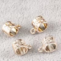 Zinklegierung Stiftöse Perlen, UV plattiert, frei von Blei & Kadmium, 11x7x6mm, Bohrung:ca. 1.5mm, 5mm, 30PCs/Tasche, verkauft von Tasche