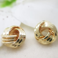 24K Gold Perlen, Messing, 24 K vergoldet, frei von Blei & Kadmium, 10mm, Bohrung:ca. 1-2mm, 10PCs/Tasche, verkauft von Tasche