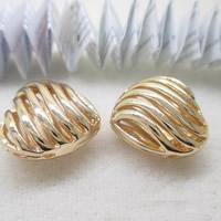 24K Gold Perlen, Messing, Herz, 24 K vergoldet, hohl, frei von Blei & Kadmium, 16x9mm, Bohrung:ca. 1-2mm, 10PCs/Tasche, verkauft von Tasche