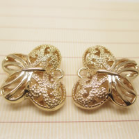 24K Gold Anhänger, Messing, Schmetterling, 24 K vergoldet, hohl, frei von Blei & Kadmium, 16x19mm, Bohrung:ca. 1-2mm, 10PCs/Tasche, verkauft von Tasche