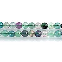 Fluorit Perlen, grüner Fluorit, rund, natürlich, verschiedene Größen vorhanden & facettierte, Bohrung:ca. 0.7-1mm, verkauft per ca. 15 ZollInch Strang