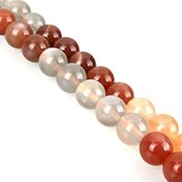 Mondstein Perlen, rund, verschiedene Größen vorhanden, Klasse AA, verkauft per ca. 15 ZollInch Strang