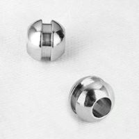 Edelstahl Perlen Einstellung, originale Farbe, 8x9x9mm, Bohrung:ca. 4.2mm, 500PCs/Menge, verkauft von Menge