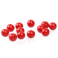 Zinnoberrot Perlen, Cinnabaris, rund, verschiedene Größen vorhanden, rot, Bohrung:ca. 1mm, 50PCs/Tasche, verkauft von Tasche