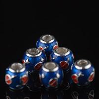 Cloisonne Perlen, Cloisonné, Trommel, handgemacht, 8mm, Bohrung:ca. 3mm, 10PCs/Tasche, verkauft von Tasche