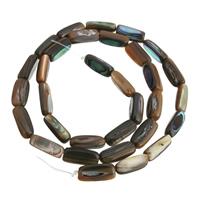 Seeohr Muschelperlen, natürlich, 12x5mm, Bohrung:ca. 1mm, Länge:ca. 15.7 ZollInch, 10SträngeStrang/Menge, ca. 32PCs/Strang, verkauft von Menge