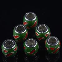 Cloisonne Perlen, Cloisonné, Trommel, handgemacht, 9mm, Bohrung:ca. 4mm, 10PCs/Tasche, verkauft von Tasche