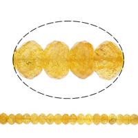 Natürlicher Citrin Perlen, Gelbquarz Perlen, flache Runde, verschiedene Größen vorhanden & facettierte, Bohrung:ca. 1mm, verkauft per ca. 15.5 ZollInch Strang