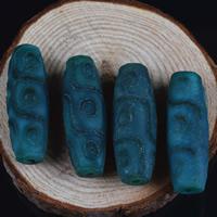 Zwei Ton Achat Perlen, Tibetan Achat, oval, natürlich, zweifarbig, 40x14mm, Bohrung:ca. 1-2mm, 2PCs/Tasche, verkauft von Tasche