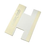 Kunststoff Kartenspule, mit Papier, Rechteck, 100x60x0.10mm, 200PCs/Tasche, verkauft von Tasche