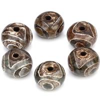 Natürliche Tibetan Achat Dzi Perlen, Trommel, 14x9mm, Bohrung:ca. 2mm, ca. 10PCs/Tasche, verkauft von Tasche