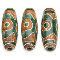 Natürliche Tibetan Achat Dzi Perlen, Trommel, 31x11mm, Bohrung:ca. 2.2mm, verkauft von PC