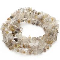 Natürlicher Citrin Perlen, Gelbquarz Perlen, Klumpen, 5-8mm, Bohrung:ca. 1.5mm, ca. 120PCs/Strang, verkauft per ca. 31 ZollInch Strang