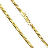 Messingkette Halskette, Messing, 24 K vergoldet, Fischgräten-Kette & für den Menschen, frei von Nickel, Blei & Kadmium, 3x1mm, verkauft per ca. 23.5 ZollInch Strang