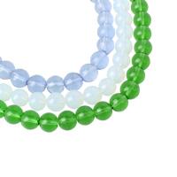 Runde Kristallperlen, Kristall, mehrere Farben vorhanden, 10mm, Bohrung:ca. 1mm, Länge:ca. 12.5 ZollInch, 10SträngeStrang/Tasche, ca. 35PCs/Strang, verkauft von Tasche