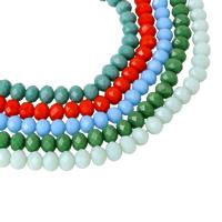 Rondell Kristallperlen, Kristall, facettierte, mehrere Farben vorhanden, 8x6mm, Bohrung:ca. 1mm, Länge:ca. 17 ZollInch, 10SträngeStrang/Tasche, ca. 72PCs/Strang, verkauft von Tasche