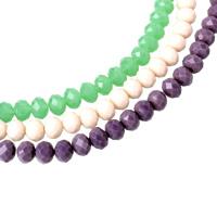 Rondell Kristallperlen, Kristall, facettierte, mehrere Farben vorhanden, 10x8mm, Bohrung:ca. 1mm, Länge:ca. 22 ZollInch, 10SträngeStrang/Tasche, ca. 72PCs/Strang, verkauft von Tasche