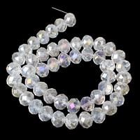 Rondell Kristallperlen, Kristall, facettierte, Kristall, 16x13mm, Bohrung:ca. 1mm, ca. 48PCs/Strang, verkauft per ca. 23 ZollInch Strang