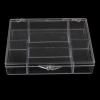 Schmuck Nagelkasten, Kunststoff, Rechteck, 7 Zellen, 20x92x12mm, verkauft von PC