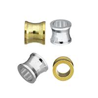 Messing Schmuckperlen, plattiert, keine, frei von Nickel, Blei & Kadmium, 4x4.50x4.50mm, Bohrung:ca. 3mm, 500PCs/Menge, verkauft von Menge