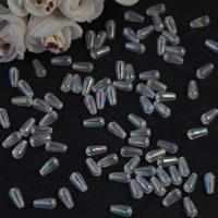 Plattierte Acrylperlen, Acryl, Tropfen, bunte Farbe plattiert, verschiedene Größen vorhanden, Bohrung:ca. 1mm, verkauft von Tasche