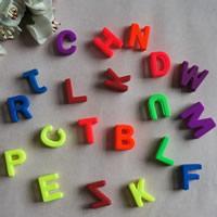 Alphabet Acryl Perlen, mit Brief Muster & gemischt, 17mm, Bohrung:ca. 1mm, ca. 740PCs/Tasche, verkauft von Tasche