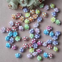 Chemische Wash Acryl Perlen, Trommel, chemische-Waschanlagen, gemischte Farben, 10mm, Bohrung:ca. 1mm, ca. 1300PCs/Tasche, verkauft von Tasche