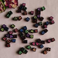 Gemischte Acrylperlen, Acryl, 7mm, Bohrung:ca. 1mm, ca. 1850PCs/Tasche, verkauft von Tasche