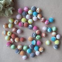 Chemische Wash Acryl Perlen, rund, chemische-Waschanlagen, gemischte Farben, 10mm, Bohrung:ca. 1mm, ca. 900PCs/Tasche, verkauft von Tasche