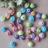 Chemische Wash Acryl Perlen, Trommel, chemische-Waschanlagen, gemischte Farben, 15x11mm, Bohrung:ca. 1mm, ca. 480PCs/Tasche, verkauft von Tasche