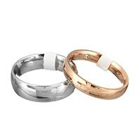 Rhinestone-Edelstahl -Finger-Ring, Edelstahl, plattiert, verschiedene Größen vorhanden & verschiedene Stile für Wahl & mit Strass, verkauft von PC