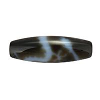 Natürliche Tibetan Achat Dzi Perlen, oval, Fünf-Drachen Klaue & zweifarbig, Grad AAA, 13x38mm, Bohrung:ca. 2mm, verkauft von PC