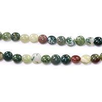 Natürliche Indian Achat Perlen, Indischer Achat, flache Runde, verschiedene Größen vorhanden, Bohrung:ca. 1-1.5mm, Länge:ca. 15.5 ZollInch, verkauft von Menge