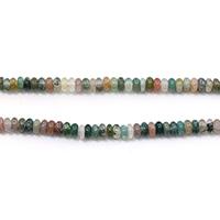 Natürliche Indian Achat Perlen, Indischer Achat, Rondell, 2x4.50x4.50mm, Bohrung:ca. 0.5mm, Länge:ca. 15.5 ZollInch, 5SträngeStrang/Menge, ca. 170PCs/Strang, verkauft von Menge