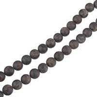 Natürlicher Granat Perlen, rund, verschiedene Größen vorhanden & satiniert, Bohrung:ca. 0.5-1.5mm, verkauft per ca. 15.5 ZollInch Strang