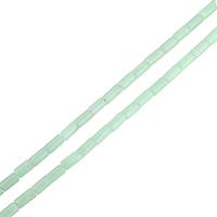 Amazonit Perlen, Zylinder, natürlich, Grade A, 4x8mm, Bohrung:ca. 1mm, ca. 50PCs/Strang, verkauft per ca. 15.5 ZollInch Strang