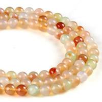 Zwei Ton Achat Perlen, Zweifarbiger Achat, rund, verschiedene Größen vorhanden, Bohrung:ca. 1mm, verkauft per ca. 15.5 ZollInch Strang