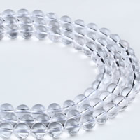 Natürliche klare Quarz Perlen, Klarer Quarz, rund, verschiedene Größen vorhanden, Bohrung:ca. 1mm, verkauft per ca. 15.5 ZollInch Strang
