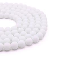 gefärbter Marmor Perle, rund, synthetisch, verschiedene Größen vorhanden, Bohrung:ca. 1mm, verkauft per ca. 15 ZollInch Strang