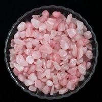 Natürliche Rosenquarz Perlen, Klumpen, kein Loch, 9-12mm, 50G/Tasche, verkauft von Tasche