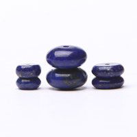 Synthetischer Lapislazuli Perlen, Rondell, verschiedene Größen vorhanden, Bohrung:ca. 1mm, verkauft von PC