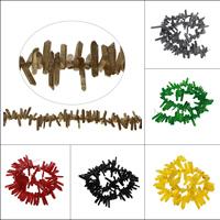 Natürlicher Quarz Perlen Schmuck, keine, 17x2x2-37x5x3mm, 95PCs/Strang, verkauft per ca. 21 ZollInch Strang