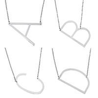 Edelstahl Schmuck Halskette, mit Verlängerungskettchen von 1.2 lnch, Buchstabe, Oval-Kette & verschiedene Stile für Wahl, originale Farbe, 2mm, verkauft per ca. 20.5 ZollInch Strang