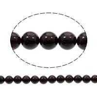 Natürlicher Granat Perlen, rund, verschiedene Größen vorhanden, Bohrung:ca. 1mm, verkauft per ca. 15 ZollInch Strang